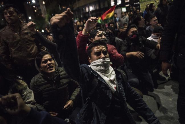 Protests in La Paz (Photo by Marcelo Perez del Carpio)