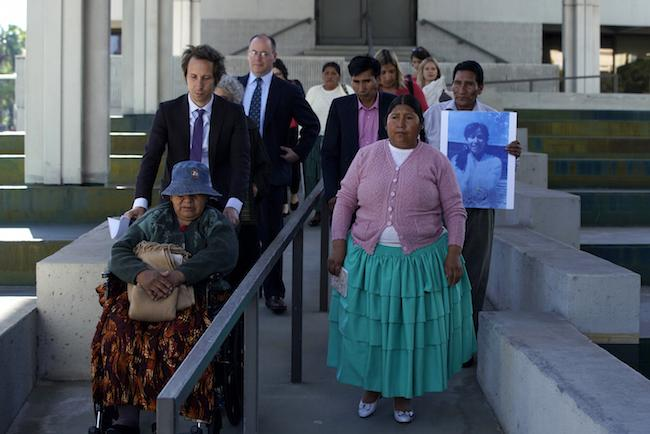 Nine plaintiffs from El Alto, Bolivia travelled to Fort Lauderdale, Florida to testify at Goni's trial. (Noah Friedman-Rudovsky)