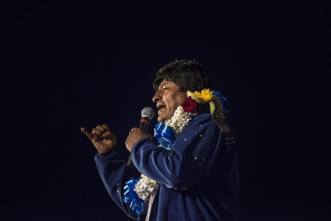 Evo Morales (Photo by Marcelo Perez del Carpio)