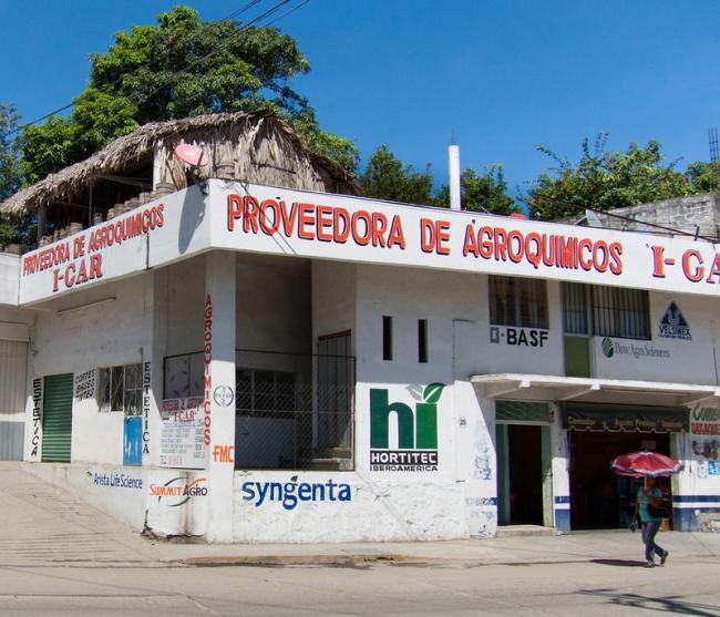 A store advertising agro-chemicals in San Pedro Pochutla, Oaxaca. (BurnOsoleil, Flickr)