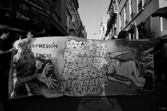 A protest in Uruguay in 2014 against the disappearance of the 43 Ayotzinapa students (Flickr)