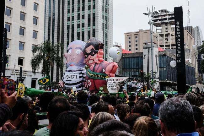 An anti-government protest on March 13 in Sao Paulo (Marcelo Valente/Flickr)