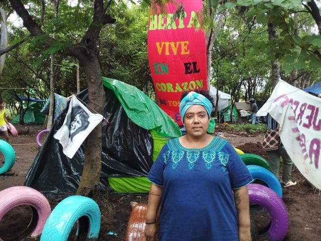 Yessica Trinidad at the Feminist Camp in Tegucigalpa. (Jackie McVicar)
