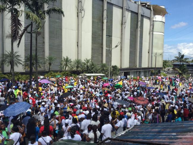Buenaventura on May 17, after two days on strike (Paso Internacional/ Twitter)