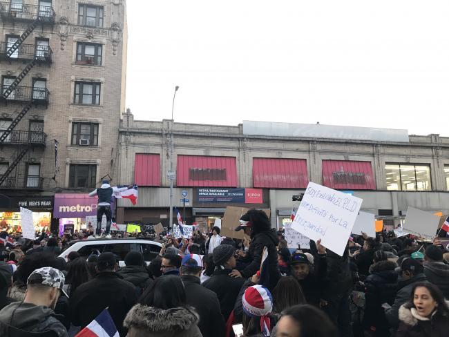 Manifestación en Washington Heights (Foto por Amaury Rodríguez)