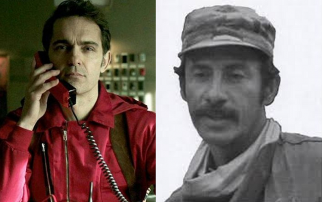 "Left: ""Berlin"" (Netflix / Casa de Papel) / Right: Iván Marino Ospina (Wikimedia)"