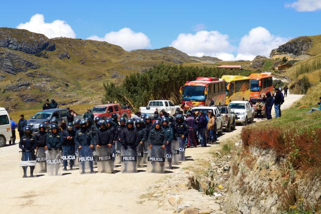The conflict over the Conga gold mine in Cajamarca, Peru is emblematic of the state's repression of anti-mining activism. (Golda Fuentes / Creative Commons)