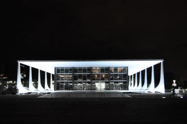Brazil's Supreme Court building, in Brasília, Brazil.