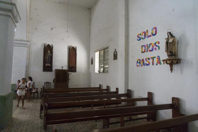The interior of the San José church in Camajuaní, Cuba. (lezumbalaberenjena, Flickr)
