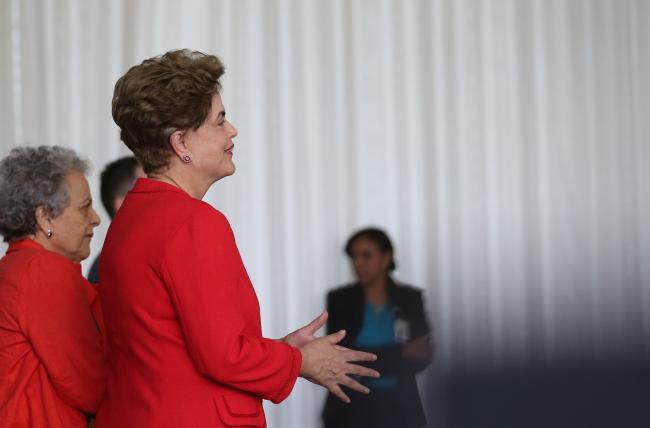 Dilma Rousseff on August 31, moments before her formal impeachment (José Cruz/Agência Brasil)