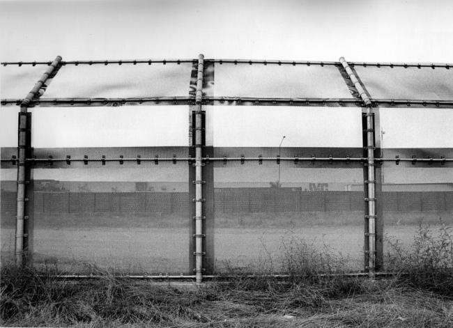 The border fence looking from San Diego into Tijuana (Photo by Mizue Aizeki)