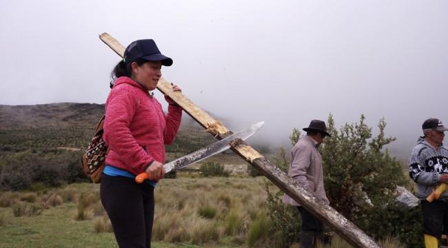 Eli founded the women's collective Sinchi Warmi and calls for economic alternatives to mining. (Andres Salazar)