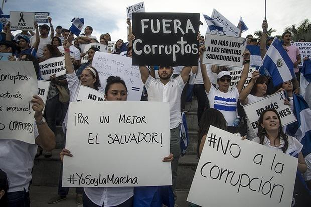A right-wing rally on Sept. 5 in San Salvador (Contrapunto/ Jessica Orellana)