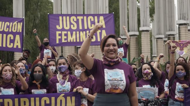 Estamos Listas is a grassroots movement founded in Medellín in 2019 building a feminist democracy by redistributing power. (Courtesy of Estamos Listas)