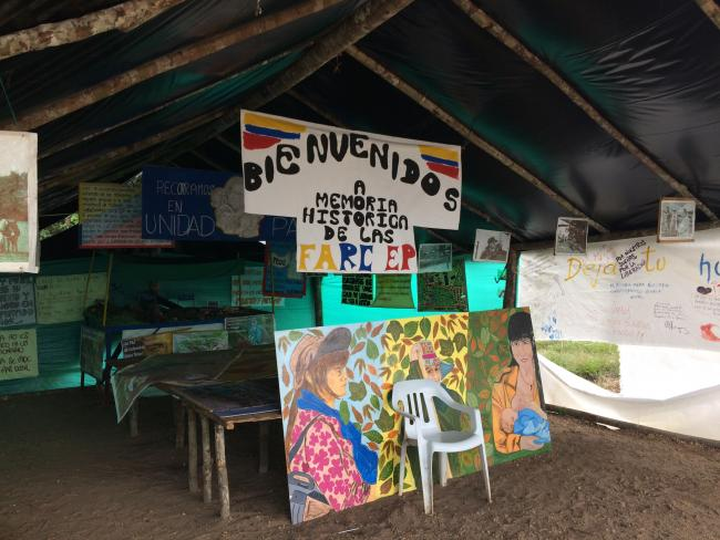 A FARC demobilization encampment in January 2018 (Photo by Raisa Camargo).