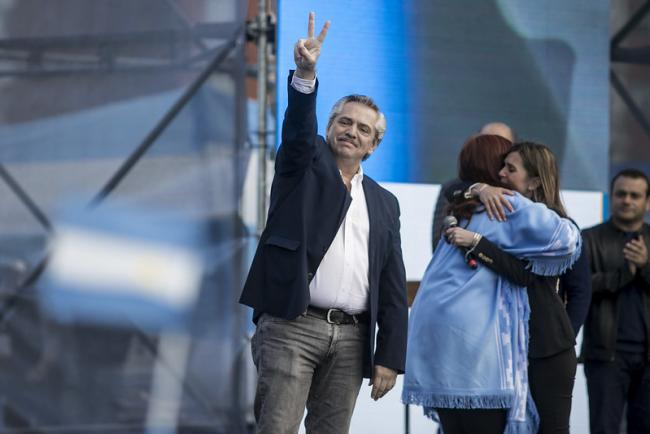 The closing rally of Alberto Fernández and Cristina Kirchner's campaign in October 2019. (Mídia NINJA)