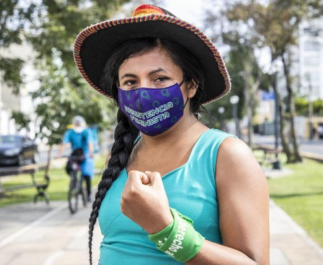 Peruvian candidate Gahela Cari. (Fabiola Granda)
