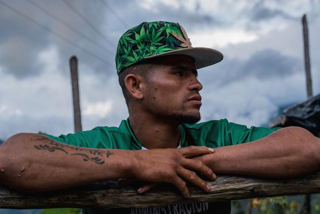 Yesion, a raspachín, or coca harvester, left Briceño in search of work after not receiving compensation from the government for eradicating his coca crop. (Photo by Gerald Bermúdez)