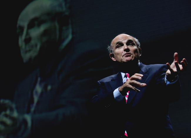 Former New York City Mayor Rudy Giuliani presenting at a 2005 conference in Mexico City. David Oziel / Flickr