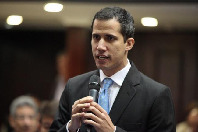 Juan Guaidó speaks before the national assembly in January (Luis Dávila/República Bolivariana de Venezuela).