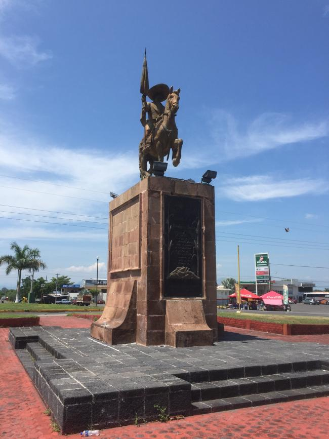 A statue of Emiliano Zapata in Nueva Italia, Michoacán (Photo by Patrick Timmons)