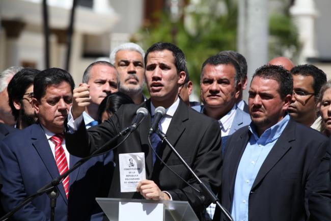 Juan Guaidó en Caracas el 21 de enero de 2018 (Luis Dávila/República Bolivariana de Venezuela).