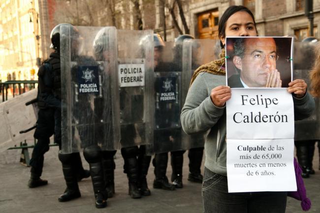 An activist protest in 2011 as part of the Movimiento por la Paz con Justicia y Dignidad (Movement for Peace with Justice and Dignity) in 2011 (Flickr/Eneas de Troya)