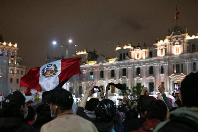 Manifestantes el 17 de noviembre, 2020 en Lima, Peru (Samantha, Hare)