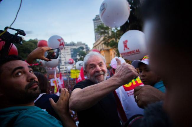 Lula in São Paulo, Brazil on January 24, 2018. (Mídia NINJA / Flickr)