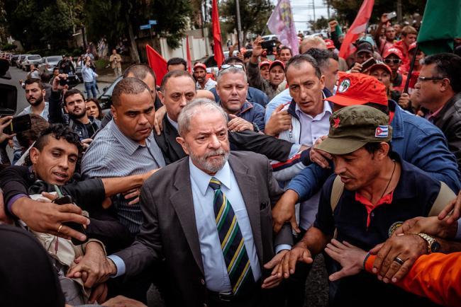 Lula in Curitiba, Brazil, in 2017. (Eduardo Figueiredo, Mídia NINJA)