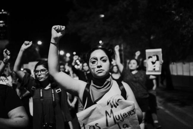 Women protest on August 16, 2019. (Photo by Laura Álvarez)