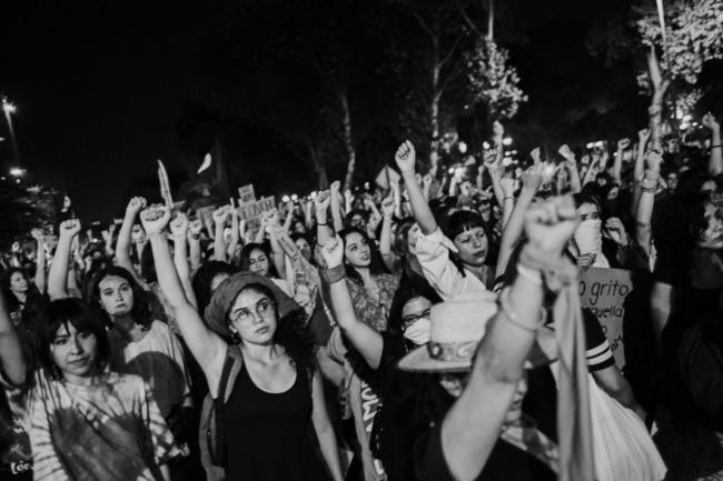 Demonstrators march on August 16, 2019. (Photo by Laura Álvarez)