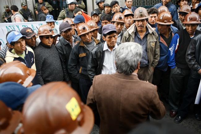 A 2009 protest of miners in La Paz. (Szymon Kochański, Flickr)