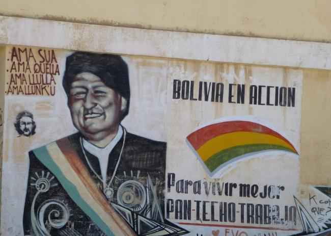 Pro- Evo Morales graffiti in Villazón, Bolivia (Flickr/ Randal Sheppard)