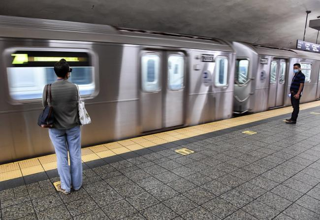 New York City's subway system in June 2020, after the peak of coronavirus cases in the state (Marc A. Hermann / MTA New York City Transit)