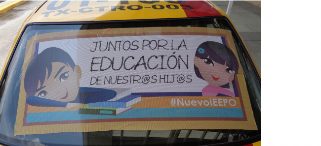The Nuevo IEEPO advertising itself in Oaxaca City, August 2015 (Photo by Eric Larson)