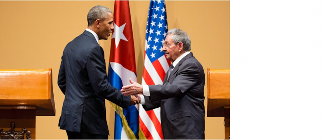 President Obama and President of Cuba Raúl Castro at their joint press conference in Havana, Cuba, March 21, 2016. (Chuck Kennedy/ Official White House Photo)