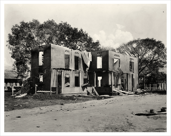 """Sevilla commissary and dispatchers office after Sevilla caused by revolution, Colombia, Dec. 1O, 1928."" Courtesy of the United Fruit Company Photograph Collection, Baker Library, Harvard Business School (olvwork719206)."