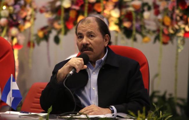 President Daniel Ortega participating in the SICA-Nicaragua summit in 2016 (Presidencia El Salvador/Flickr)