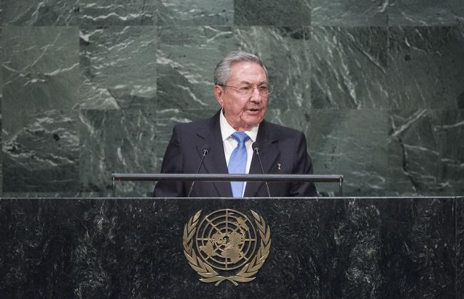Cuban President Raúl Castro at the 2015 OAS meeting (Amanda Voisard/Flickr)