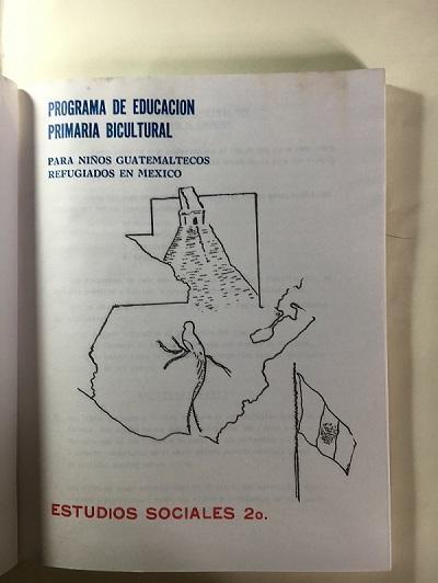 Libro de actividades elaborado para uso por niños guatemaltecos en campamentos en México.