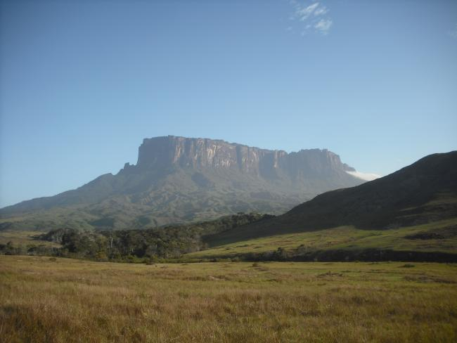 A tepuy of the Gran Sabana, taken in 2015 (photo by Luis Angosto-Ferrández).