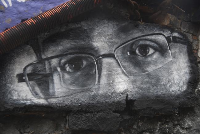 Edward Snowden mural. (Thierry Ehrmann / Creative Commons)