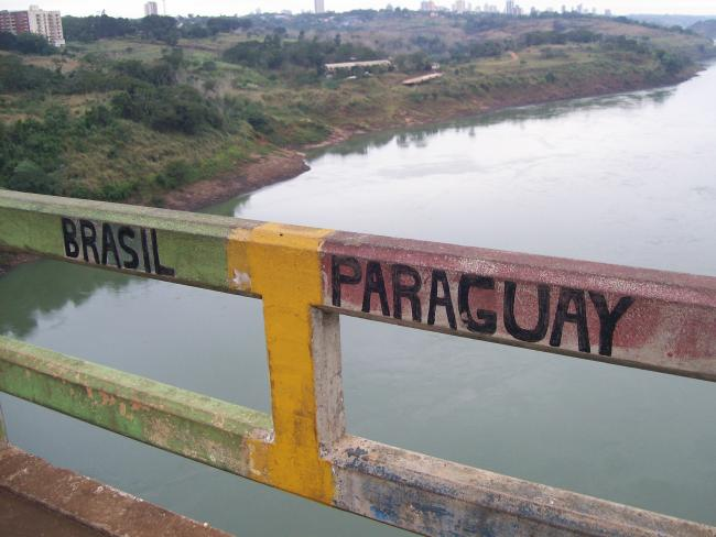 The Brazil-Paraguay border seen from Ciudad del Este (Wikimedia Commons).