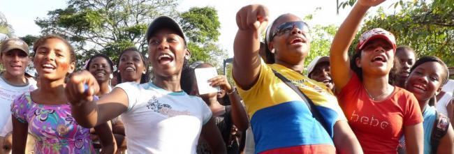 Afro-Colombian women rally in support of Colombia's peace accord (Warscapes)